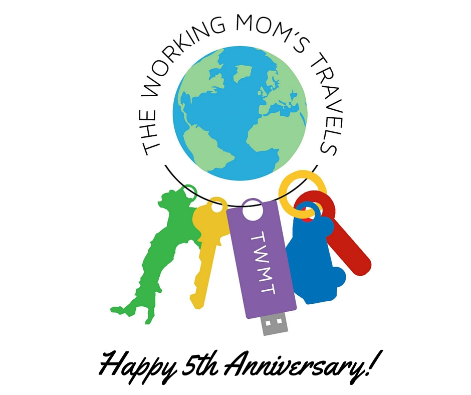 The Working Mom's Travels 5th anniversary