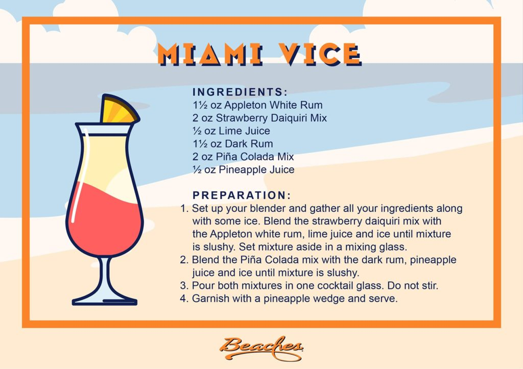 Recipes for summer cocktails: Miami Vice